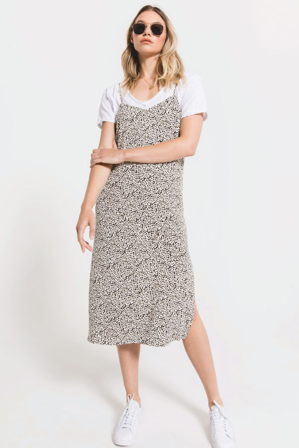 Slip Dress with tee